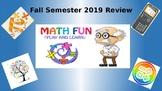 8th Grade Math Fall Semester Review Game