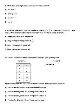 8th Grade Math Final Exam by Brent Parke | Teachers Pay Teachers