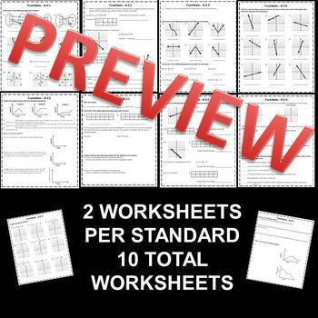 8th Grade Math Function Homeworkworksheets By Math In The Midwest
