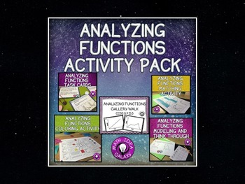 8th Grade Math Functions Activity Mega Bundle