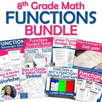 8th Grade Math Functions BUNDLE