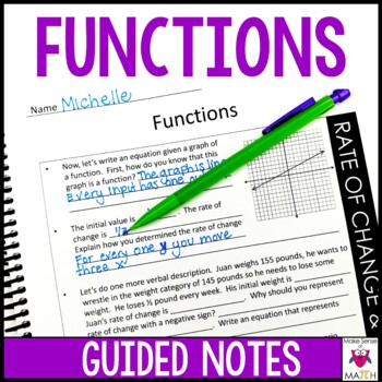 8th Grade Math Functions Guided Notes