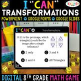 8th Grade Math Game DIGITAL   Transformations    Distance