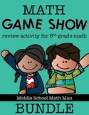8th Grade Math Game Show Review Activity Bundle