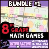 8th Grade Math Games - Interactive Games BUNDLE #1