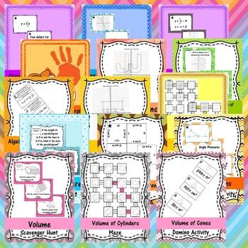 8th Grade Math Games MEGA Bundle