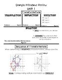 8th Grade Math Georgia Milestone Review (All standards)