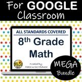 ⭐8th Grade Math Google Classroom Bundle- Year Long Math Digital Curriculum⭐