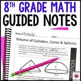 8th Grade Math Guided Notes - 8th Grade Math Notes