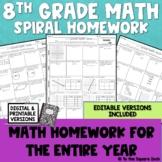 8th Grade Math Homework