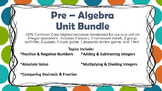 8th Grade Math Integer Operations Unit Bundle