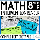 8th Grade Math Intervention Binder