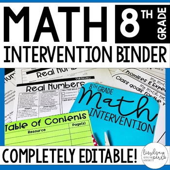 8th Grade Math Intervention Binder - Great for Distance Learning
