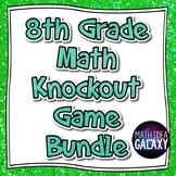 8th Grade Math Knockout Game Bundle