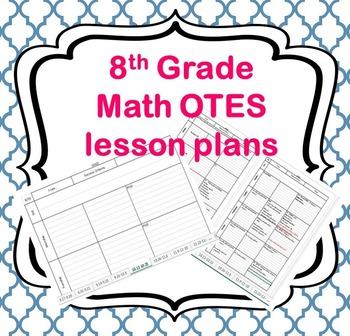 8th Grade Math Lesson Plan Template