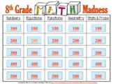 8th Grade Math Madness - Interactive Power Point Quiz Game