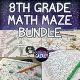 8th Grade Math Maze Bundle