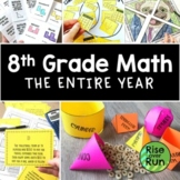 8th Grade Math Curriculum Bundle for the Whole Year