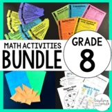 8th Grade Math Curriculum Resources Bundle : A Full Year of Activities