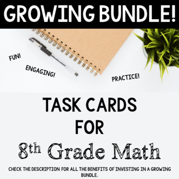 8th Grade Math Task Cards Bundle