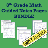 Guided Notes Pages Bundle