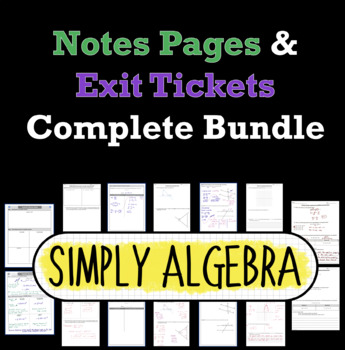 8th Grade Math Notes Pages and Exit Tickets Complete Bundle