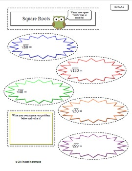 8th Grade Math Number Sense Interactive Notebook