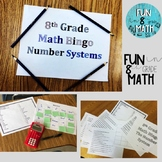 8th Grade Math Number System Review Bingo