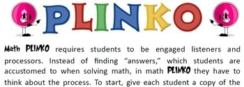 8th Grade Math PLINKO