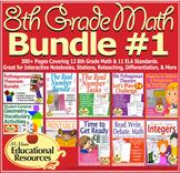 8th Grade Math - Bundle #1 - Activities for Interactive No