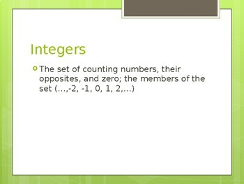 8th Grade Math Powerpoint Lessons