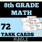 8th Grade Math Task Card Activity Bundle For Pre-Algebra SAVE 30 percent