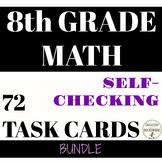 8th Grade Math Task Card Activity Bundle For Pre-Algebra S