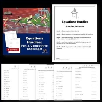 8th Grade Math Pre Algebra Test Prep Hurdles BUNDLE