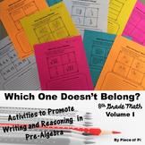 8th Grade Math Pre Algebra Writing Activities {Volume I}