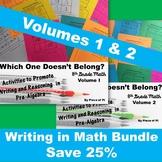 8th Grade Writing in Math Pre Algebra Activities BUNDLE