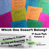8th Grade Math Pre Algebra Writing Activities {Volume 2}