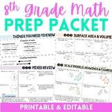 8th Grade Math Prep Packet
