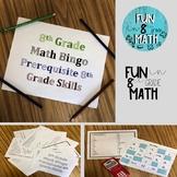 8th Grade Math Prerequisite Skills Bingo