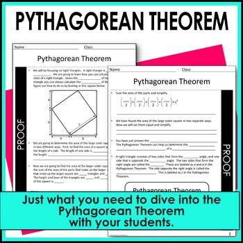 Pythagorean Theorem Guided Notes - Pythagorean Theorem Notes
