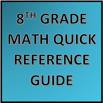 8th Grade Math Quick Reference Guide
