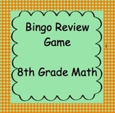8th Grade Math Review Bingo Game #2, TCAP Review
