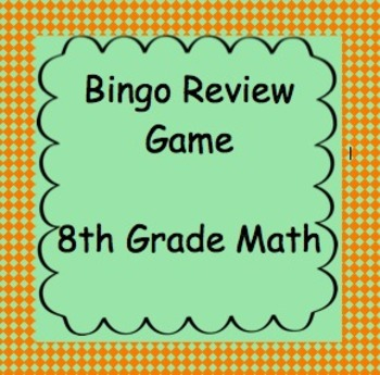 8th Grade Math Review Bingo Game #2, TCAP Review