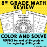 8th Grade Math Review Color and Solve