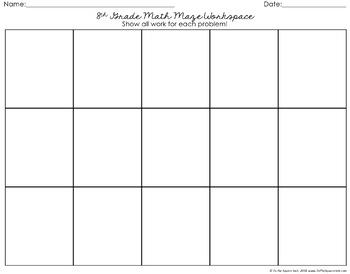 8th Grade Math Review Maze