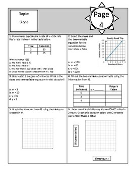 8th Grade Math Review Packet