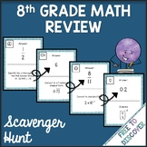 8th Grade Math Review Activity - Scavenger Hunt