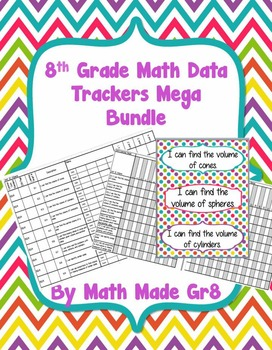 8th Grade Math SBG or Mastery Grading Data Tracker (Mega Bundle)