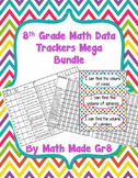 8th Grade Math SBG or Mastery Grading Data Tracker (Mega Bundle)