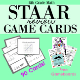 8th Grade Math STAAR REVIEW GAMECARDS